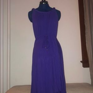 Spense purple maxi dress with tie-belt